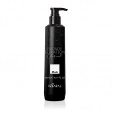 Черная угольная тонирующая маска для осветленных волос Kaaral Blonde elevation Charcoal 1000 мл